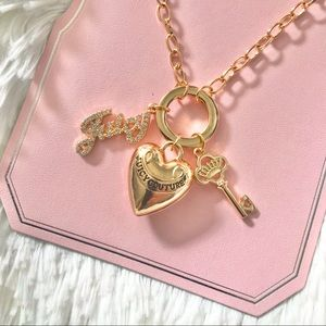 NWT Juicy Couture necklace chunky heart